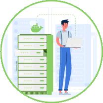 ISAT 4.0 wird in Ihr System per Docker-Container übertragen